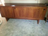 Beautiful solid wood Credenza-Solid, heavy $50.00 obo