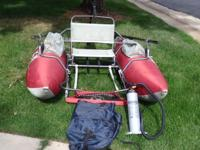Pontoon boat and motor package $365.00 The Minn Kota