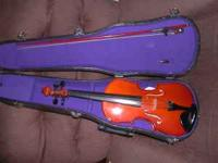 have a Cremona Violin SV-50 3/4 comes with violin,bow