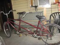"Crestline 26 "" inch Tandem 2 Seater 6- speed bicycle ."
