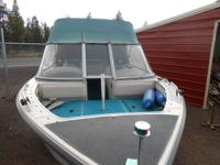 17 1/2 FT  ALL ALUMINUM WELDED BOAT   IN BOARD OUT