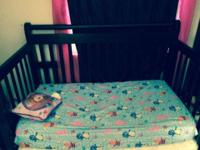 Never ever utilized baby crib 3 in one my mom law