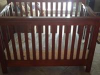 Crib, mattress, and two dressers for sale. Original