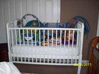 Crib, matterss and toys $150.00 obo. Please call  or
