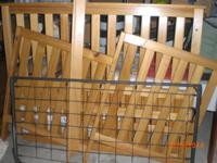 Wood Crib that can be converted to a bed.  Please use