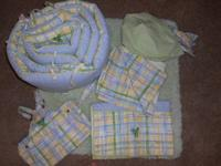 Frog themed crib bedding. Bought brand name new from