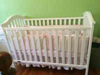 White crib never been slept in $60 excellent condition