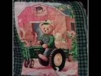 john deere is hand made an comes with blanket, bumper,