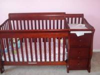 I have a cherry wood convertible crib 1 yr old with