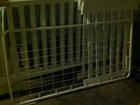 White color Crib turn into a BED Very good condition.