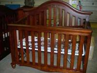 BRAND NEW Lily Convertible Crib Cherry or chocolate