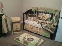 Babier r us baby cocoa 9 piece crib set also matching