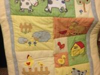Complete crib bedding set from a pet free home in great