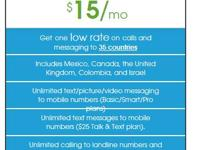 Get one low rate on calls and messaging to 35