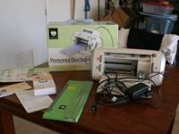Cricut Personal machine.Comes with cutter, all manuals,