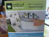 Item for sale is a Cricut Jukebox. The jukebox allows 6