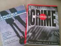 I have two books from my criminal justice classes that