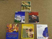 I am selling my Criminal Justice textbooks. Basic