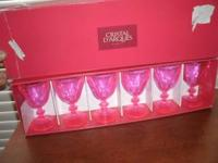 Brand new and still in the box! Crystal wine or water