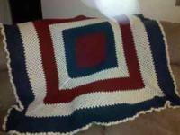Hand Crocheted afghan brand new for sale. I can make