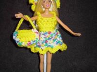 Cute Crochet Barbie clothes. $4.00 each clothing. Would