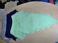 Beautiful crochet turtle neck collars with buttons.