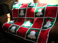 Christmas Bell crocheted afghan. Call  // //]]>