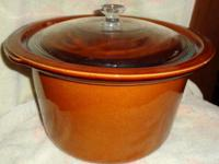 5 qt Vintage stoneware insert and cover. My crockpot