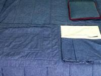 Croscill twin comforter embeddeded in jeans color. This