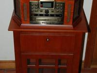 CROSLEY CR248 Turntable with CD Burner + Matching Floor