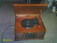 yep its a crosley stereo that plays tapes, records, and