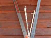 Jarvinen cross country skis. 3 prong shoe mount. Length