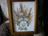 Handmade Cross stitch shell picture $6.00 dollars for