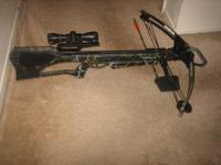 This is a Barnett Quad 400 150lb. Crossbow. includes: