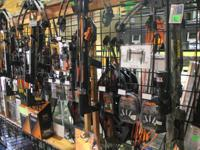 Crossbows and accessories are available at Archery