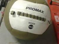 Excellent condition, promax 20lb wall ball text  show