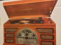 Brand new, never used, still in the box, Crosley stereo