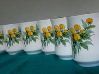 Hi selling CROWN STERLING FINE BONE CHINA used set of 6