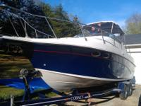 1992 Blue and White 25 ', 300hp. Crownline Cruiser