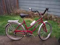This is a lightly used cruiser 5 speed traditional.
