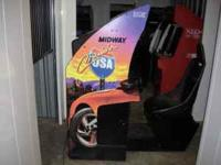 CRUISIN WORLD SIT DOWN COIN OPERATED ARCADE GAME. IN