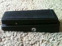 I have a cry baby wah, electric guitar pedal. Model