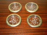 Set of 4A wonderful set of crystal glass coasters from