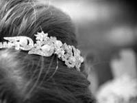 Silver vintage inspired crystal headband, originally