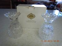 A pair of Crystal candlesticks (24% Lead Crystal) These