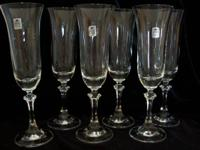 ROYAL BAVARIAN CRYSTAL, CRYSTALLIN fluted, champagne