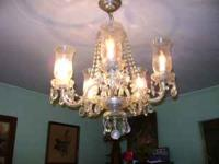Beautiful Crystal chandelier available for $75 cash.