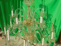 Crystal Light fixture. Size approx. 28W 28 30H. 20 year