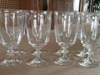 Set of 8 Crystal glasses ( I have one extra so you will