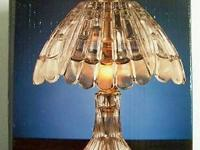 Photo 1) 24% FULL LEAD CRYSTAL LAMP, $125 *obo, approx.